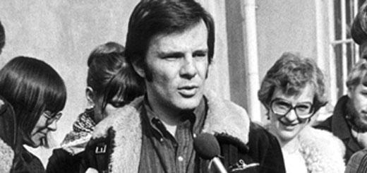 Jan Guillou vid frigivningen efter IB-affären