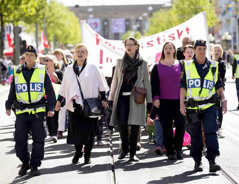 Fi 1 maj i Göteborg (Foto: Thomas Johansson/TT – Tack för lånet av denna fina bild!)