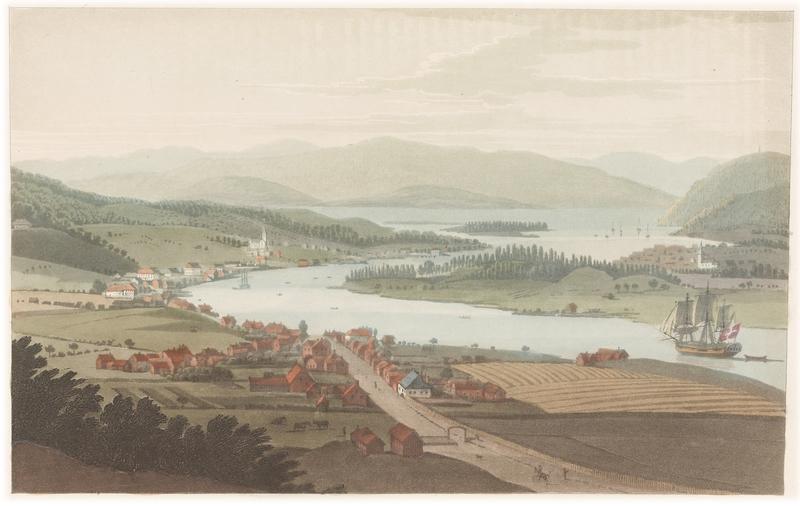 Vy över Porsgrunn 1800-1013 (tryck 1818)