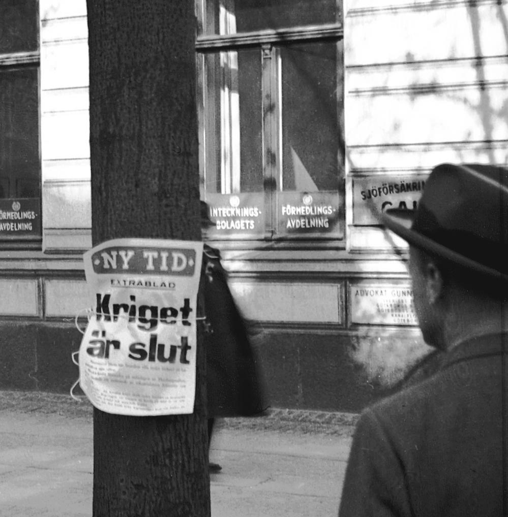 En ögonblicksbild från 7 maj 1945 i Göteborg. Foto: P Lundwall