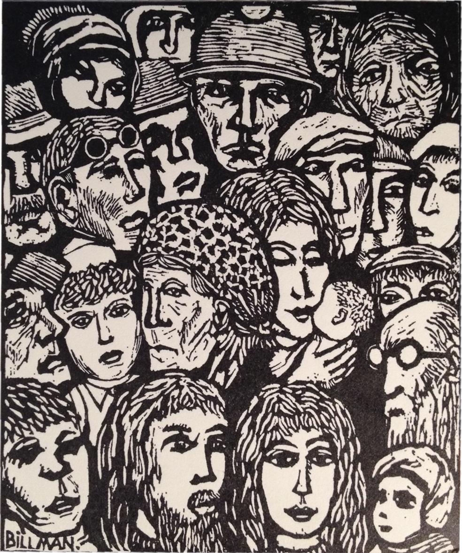 Folket i bild, den bild av Torsten Billman som prydde FiB/Ks allra första nummer (jan 1972)